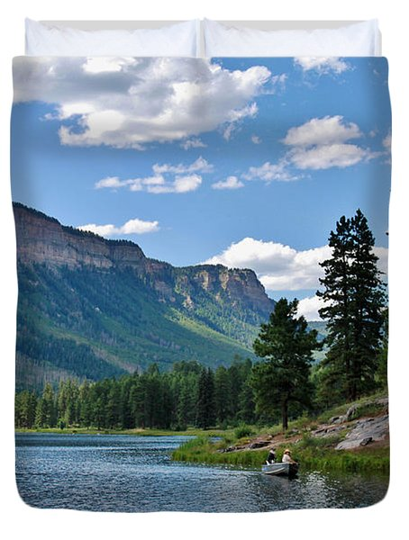 Duvet Cover featuring the photograph Haviland Lake by Janice Rae Pariza