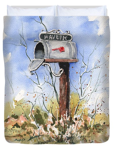 Havlik's Mailbox Duvet Cover