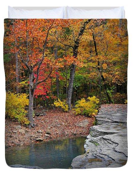 Haw Creek Fall 2 Duvet Cover by Marty Koch