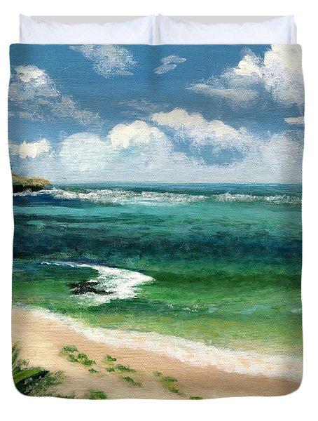 Hawaii Beach Duvet Cover by Jamie Frier