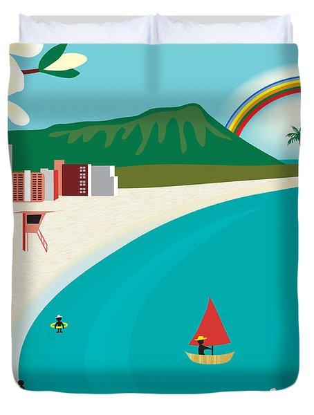 Hawaii Duvet Cover by Karen Young
