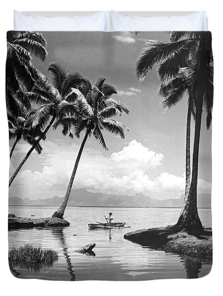 Hawaii Tropical Scene Duvet Cover