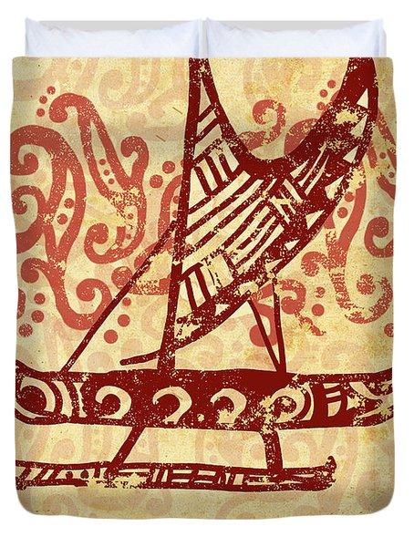 Hawaiian Canoe Duvet Cover by William Depaula