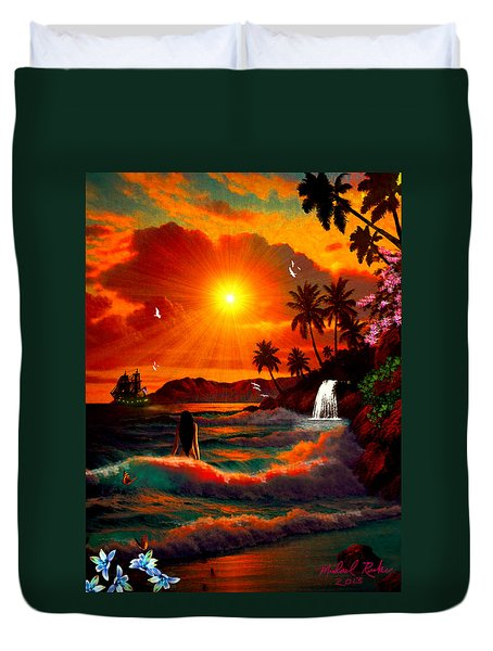 Hawaiian Islands Duvet Cover by Michael Rucker