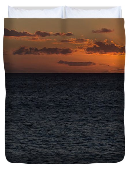 Duvet Cover featuring the photograph Hawaiian Nights  by Heidi Smith