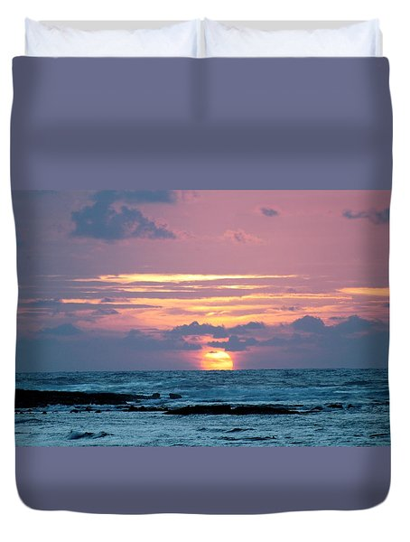 Hawaiian Ocean Sunrise Duvet Cover