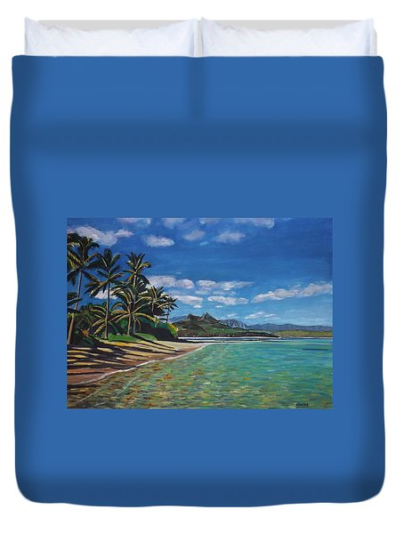 Hawaiian Paradise Duvet Cover by Richard Nowak
