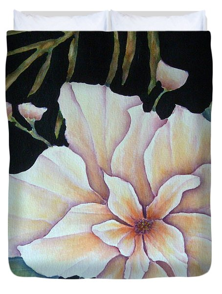 Hawaiian Pua Duvet Cover by Pamela Allegretto
