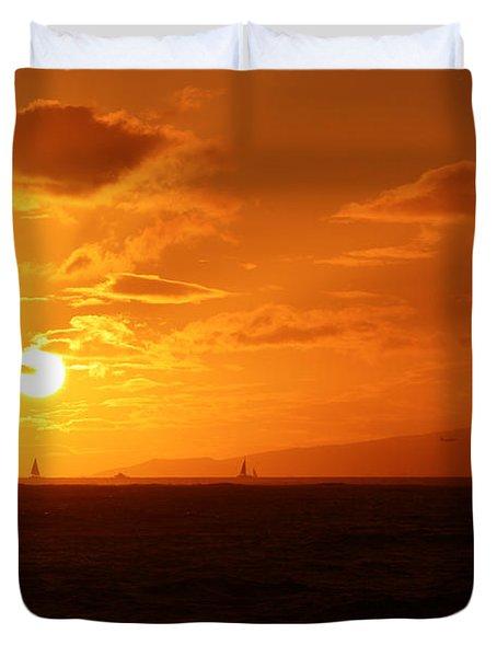 Hawaiian Sunset Duvet Cover
