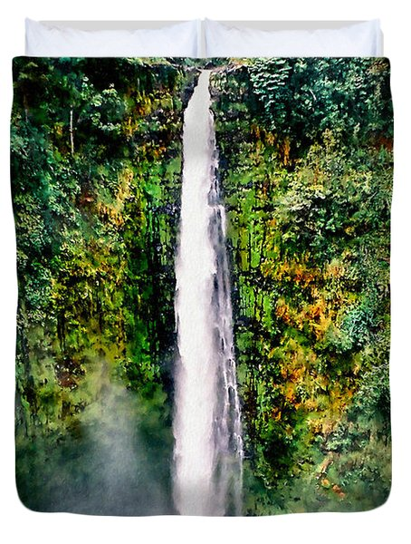 Hawaiian Waterfall Duvet Cover