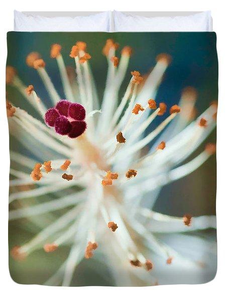 Hawaiian White Hibiscus Duvet Cover