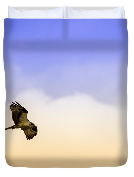 Hawk Over Head Duvet Cover