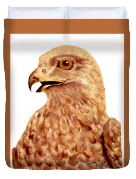 Hawk Duvet Cover by Terry Frederick