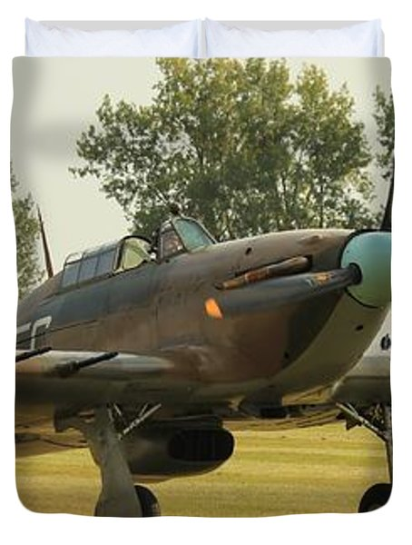 Hawker Hurricane Taxing Duvet Cover