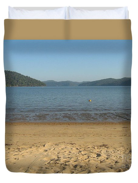 Duvet Cover featuring the photograph Hawksbury River From Dangar Island by Leanne Seymour