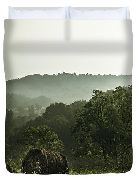 Hay Bales Duvet Cover by Shane Holsclaw
