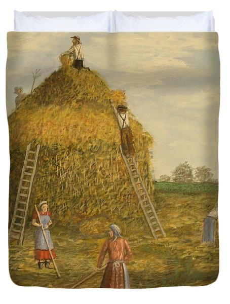 Hay Days. Duvet Cover by Larry Lamb