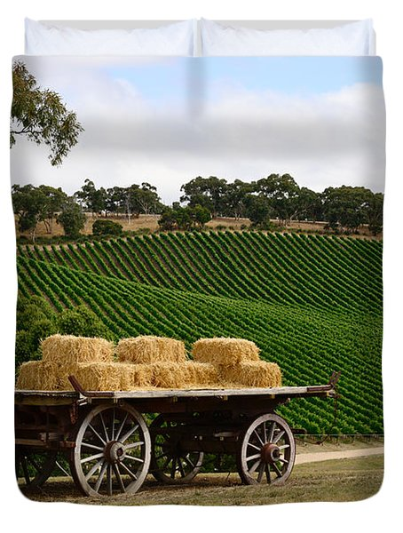 Hay Wagon Duvet Cover