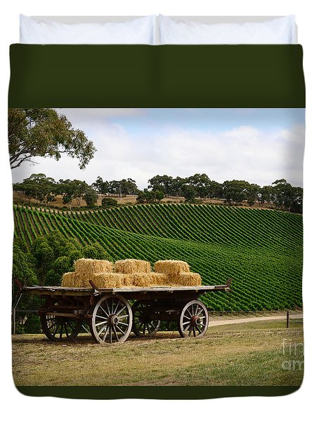 Hay Wagon Duvet Cover