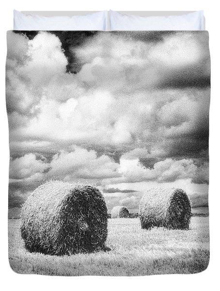 Haybales Uk Duvet Cover by Jon Boyes