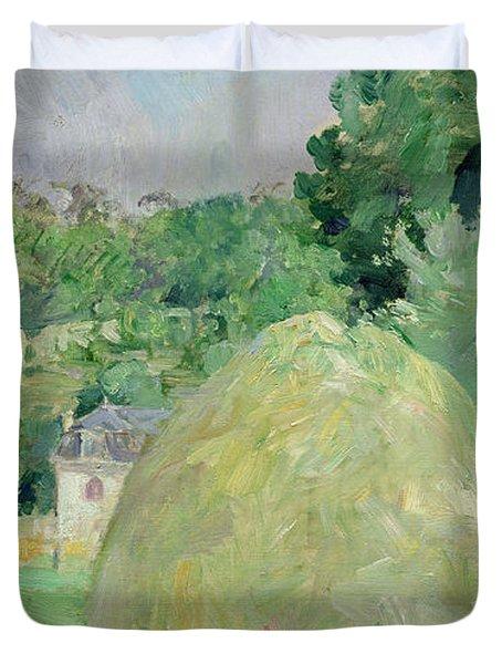 Haystacks At Bougival Duvet Cover by Berthe Morisot