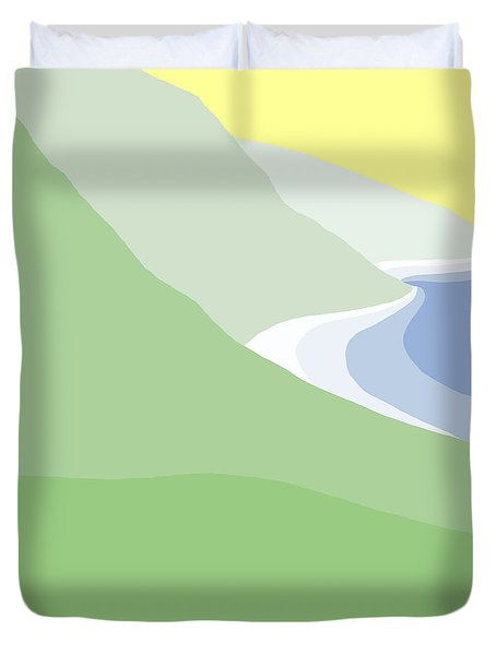 Hazy Coastline Duvet Cover