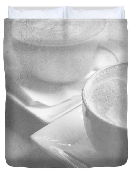 Duvet Cover featuring the photograph Hazy Morning Moments 2 by Lisa Parrish