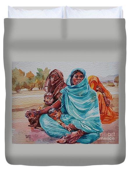 Hdndoh Eastern Sudan Duvet Cover by Mohamed Fadul