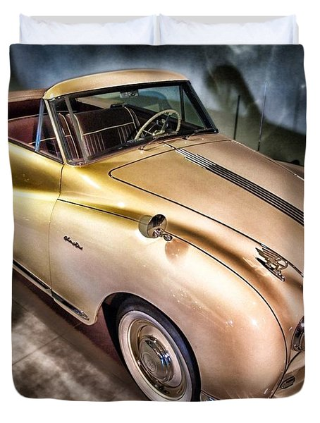 Duvet Cover featuring the photograph Hdr Classic Car by Paul Fearn