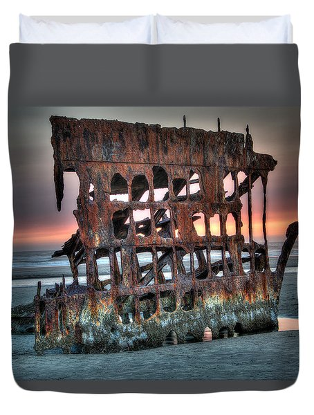 Hdr Peter Iredale Duvet Cover