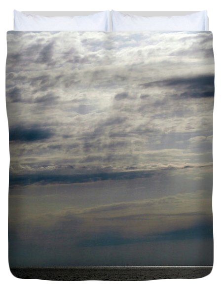 Hdr Storm Over The Water  Duvet Cover by Joseph Baril