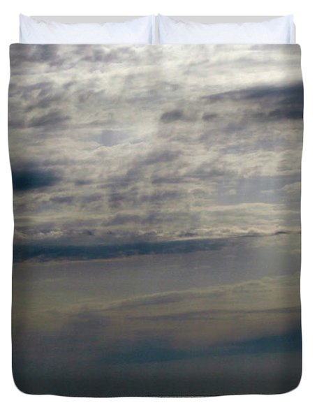 Hdr Storm Over The Water  Duvet Cover