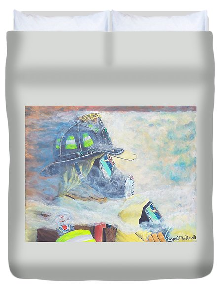 He Is At The Door Duvet Cover