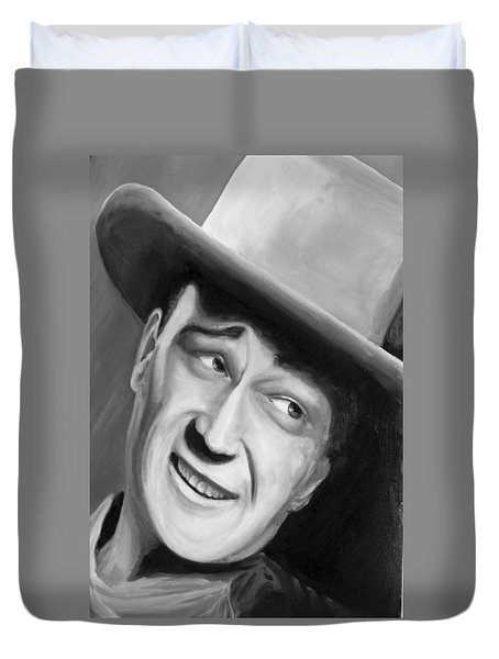 He Played A Cowboy Duvet Cover