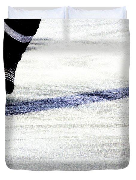 He Skates Duvet Cover