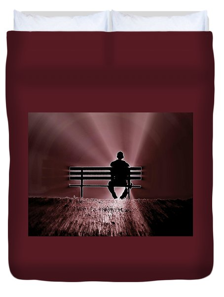 He Spoke Light Into The Darkness Duvet Cover
