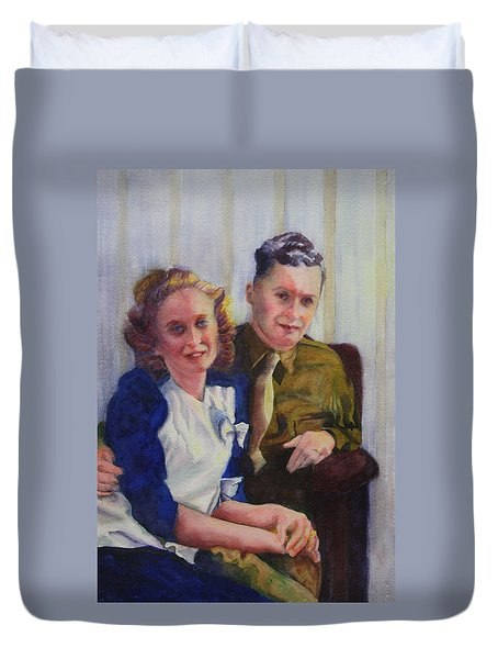 He Touched Me Duvet Cover