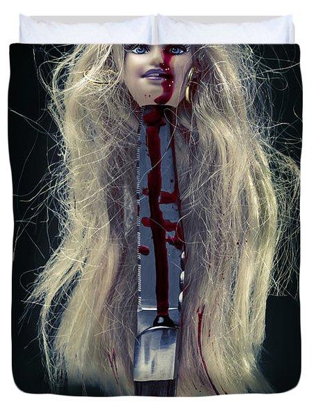 Head And Knife Duvet Cover by Joana Kruse