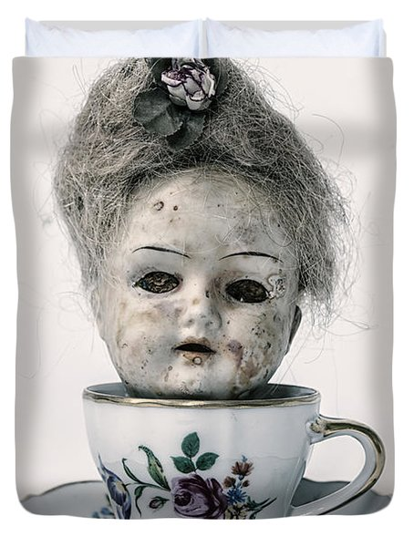 Head In Cup Duvet Cover by Joana Kruse