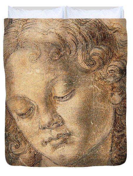 Head Of An Angel Duvet Cover