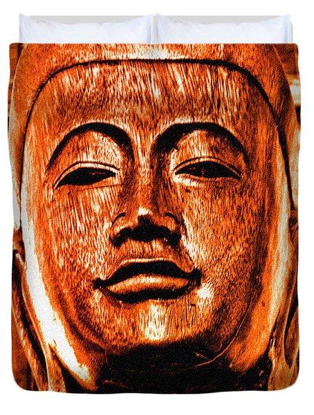 Head Of The Buddha Duvet Cover
