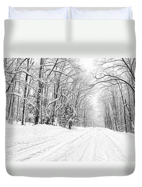 Heading For Davis West Virginia After Snow Storm Duvet Cover by Dan Friend