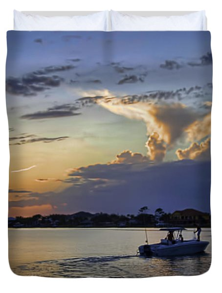 Heading For Harbor Duvet Cover by Tim Stanley
