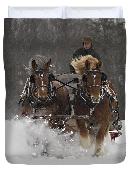Heading To The Finish Duvet Cover