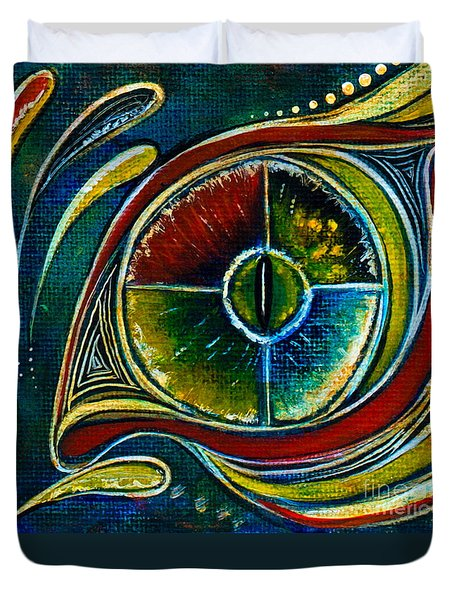 Healer Spirit Eye Duvet Cover