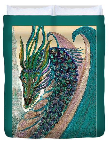 Healing Dragon Duvet Cover