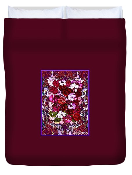 Healing Flowers For You Duvet Cover