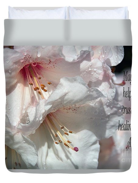 Duvet Cover featuring the photograph Healing Power by Jean OKeeffe Macro Abundance Art