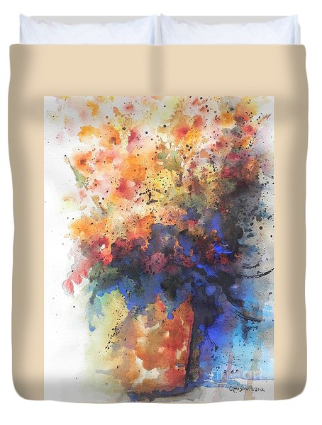 Healing With Blue Duvet Cover by Chrisann Ellis