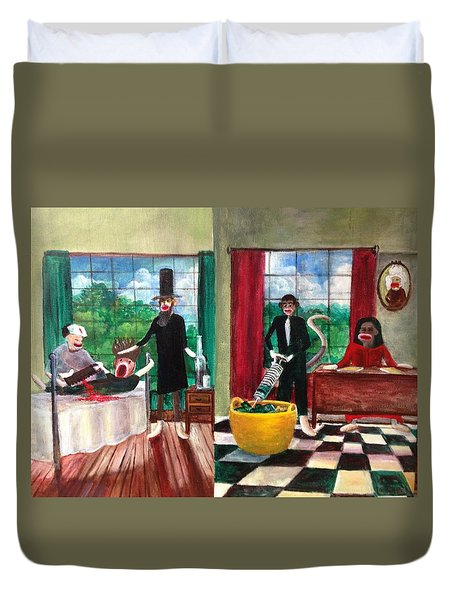 Healthcare Then And Now Duvet Cover by Randy Burns